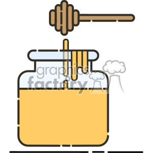 honey vector flat icon design clipart. Royalty-free image # 403184