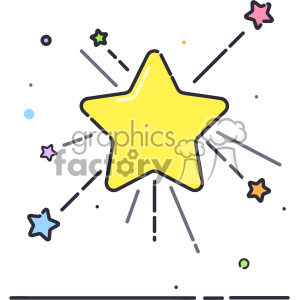 stars vector flat icon design