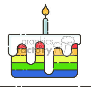 rainbow cake vector flat icon design clipart. Royalty-free image # 403204