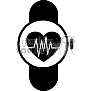 smart watch ekg vector icon clipart. Commercial use icon # 403214