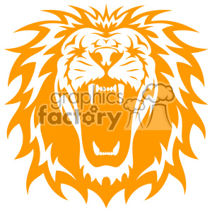 lion head roaring svg cut file clipart. Royalty-free image # 403225