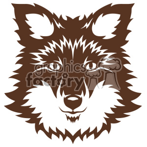 wolf head svg cut file