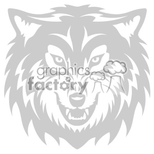 wolf growling head svg cut file clipart. Royalty-free image # 403227