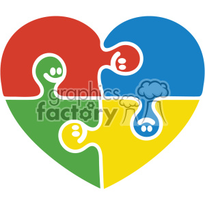 autism puzzle pieces heart svg cut file clipart. Commercial use icon # 403233