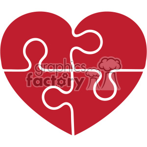 autism puzzle heart svg cut file