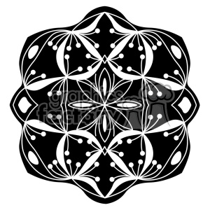 mandala geometric vector design 021 clipart. Royalty-free image # 403245