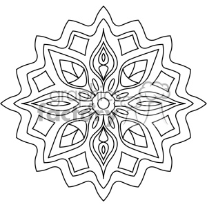 mandala geometric vector design 013 clipart. Royalty-free image # 403255