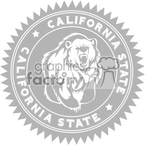 california bear logo design vector art v4 clipart. Royalty-free image # 403275