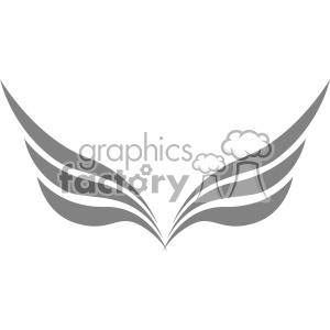 aviation wings symbol vector logo template v5