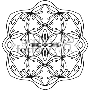 mandala geometric vector design 015 clipart. Royalty-free image # 403295