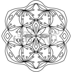 mandala geometric vector design 015