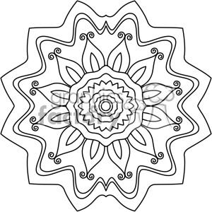 mandala geometric vector design 016