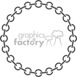 circle chain vector clipart. Commercial use image # 403325