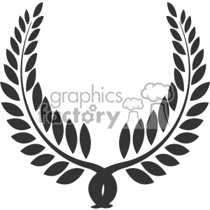 branch wreath design vector art v4 clipart. Royalty-free image # 403335