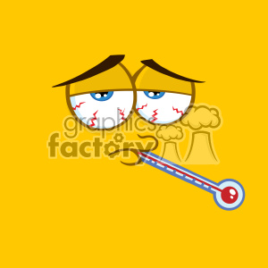 cartoon funny comical face sick ill