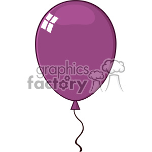 10747 Royalty Free RF Clipart Cartoon Purple Balloon Vector Illustration clipart. Royalty-free image # 403600