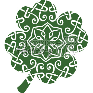 clover St Patricks Day flat vector design GF clipart. Royalty-free image # 403702