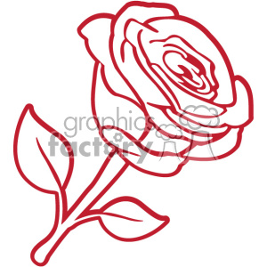 red rose svg cut file clipart. Royalty-free image # 403783