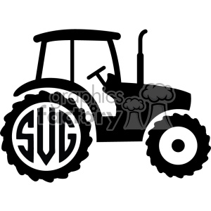 tractor svg initials monogram cut file clipart. Commercial use image # 403793