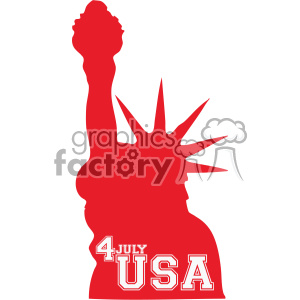 4th of july USA statue of liberty vector icon