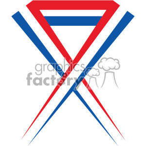 4th of july USA ribbon vector icon clipart. Royalty-free image # 403813