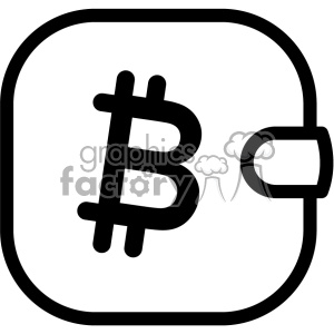 bitcoin cryptocurrency wallet icon clipart. Royalty-free image # 403831
