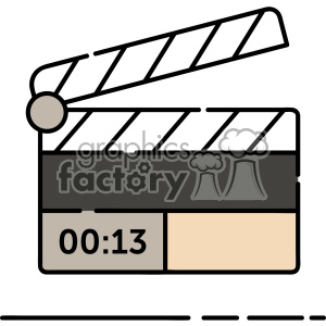 Clapperboard vector clip art images clipart. Royalty-free image # 403894
