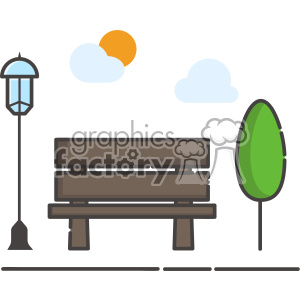 Bench clip art vector images
