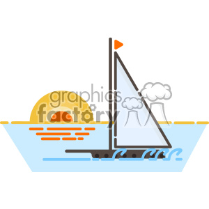 Yacht vector clip art images