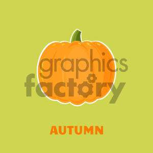 Pumpkin Fruit Cartoon Flat Design Style Vector Illustration With Background And Text Autumn clipart. Royalty-free image # 403947