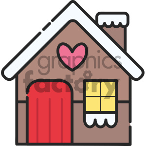 christmas house vector icon