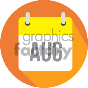 august calendar vector icon clipart. Royalty-free image # 404003