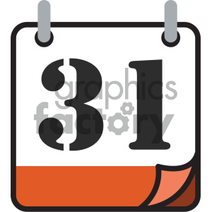 calendar vector icon 31st new years eve clipart. Royalty-free image # 404019
