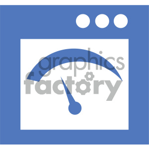 gui gauge vector icon clipart. Commercial use image # 404032