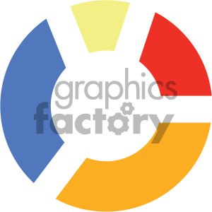 pie chart vector icon clipart. Royalty-free image # 404057