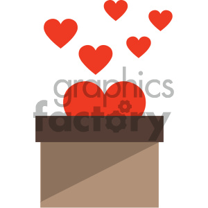 valentines box vector icon clipart. Commercial use image # 404069