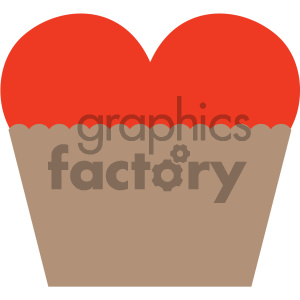 heart cupcake valentines vector icon clipart. Royalty-free image # 404080