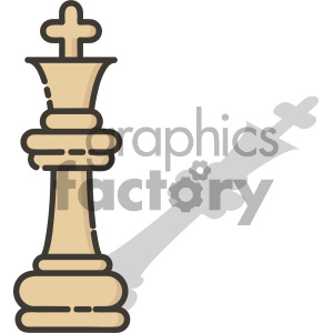 King chess piece vector art clipart. Commercial use image # 404089