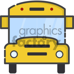 school bus vector art clipart. Royalty-free image # 404122
