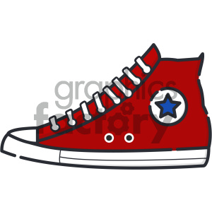 Sneakers vector art clipart. Royalty-free image # 404135