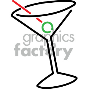 cocktails vector symbol clipart. Royalty-free image # 404152