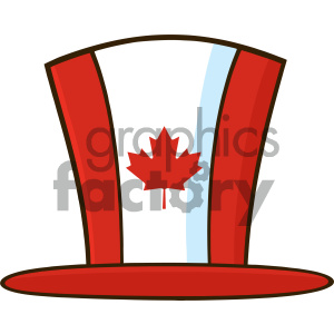 Royalty Free RF Clipart Illustration Canadian Maple Leaf Top Hat Line Cartoon Drawing Vector Illustration Isolated On White Background clipart. Royalty-free image # 404273