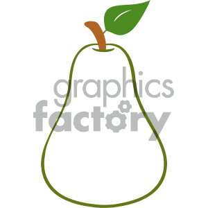 Royalty Free RF Clipart Illustration Outlined Color Pear Fruit Cartoon Drawing Simple Design Vector Illustration Isolated On White Background clipart. Royalty-free image # 404462