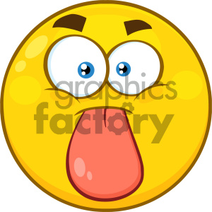 smilie cartoon funny smilies vector yellow tease tongue
