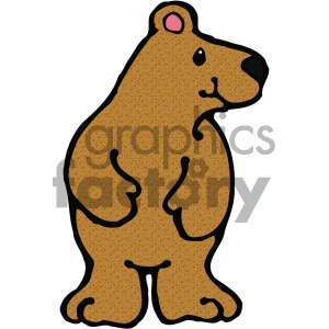 cartoon clipart Noahs animals bear 006 c clipart. Royalty-free image # 404748