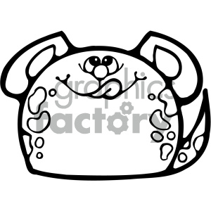 cartoon clipart gumdrop animals 006 bw clipart. Royalty-free image # 404784