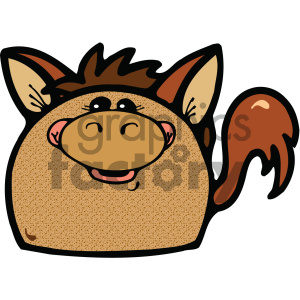 cartoon clipart gumdrop animals 008 c clipart. Royalty-free image # 404794