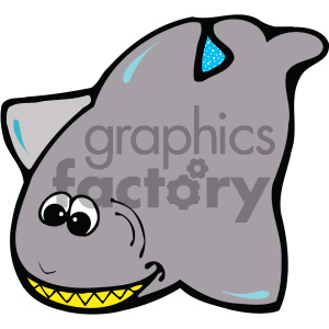 cartoon clipart shark 001 c