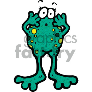 cartoon clipart frog 018 c clipart. Royalty-free image # 404854
