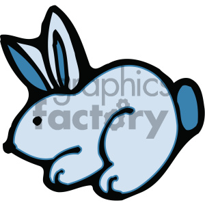 cartoon clipart bunny 008 c clipart. Royalty-free image # 404868
